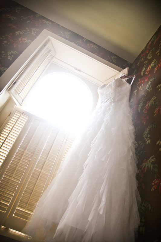Wedding Photography and Couples Photography, wedding dress hung up