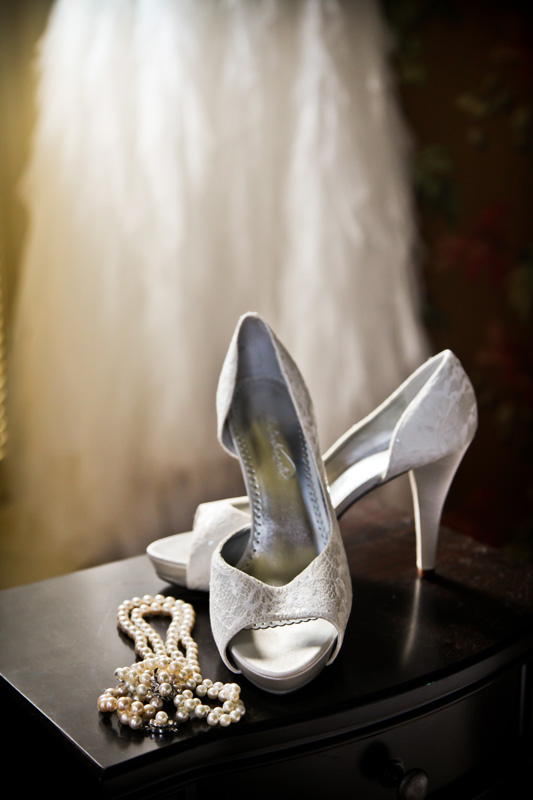 Wedding Photography and Couples Photography, bride's necklace and shoes