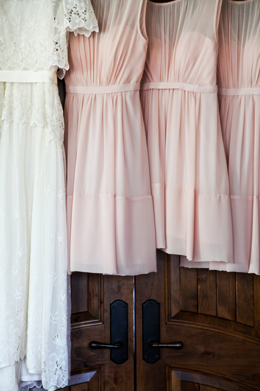 Wedding Photography and Couples Photography, bridal party dresses hung up together