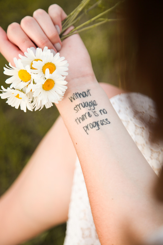 Senior Photography, Teen & Tween Photography, close up of girls tattoo