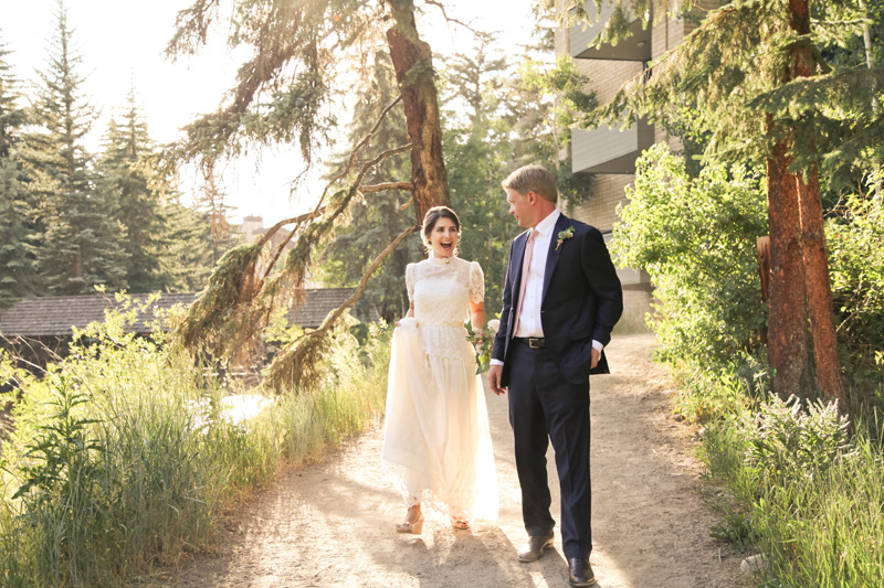 Wedding Photography and Couples Photography, bride walking down dirt path