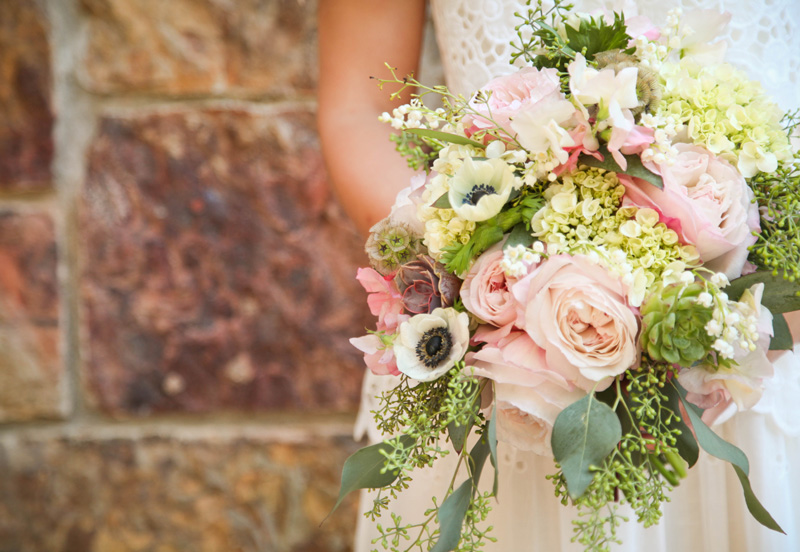 Wedding Photography and Couples Photography, close up of bride her with bouquet