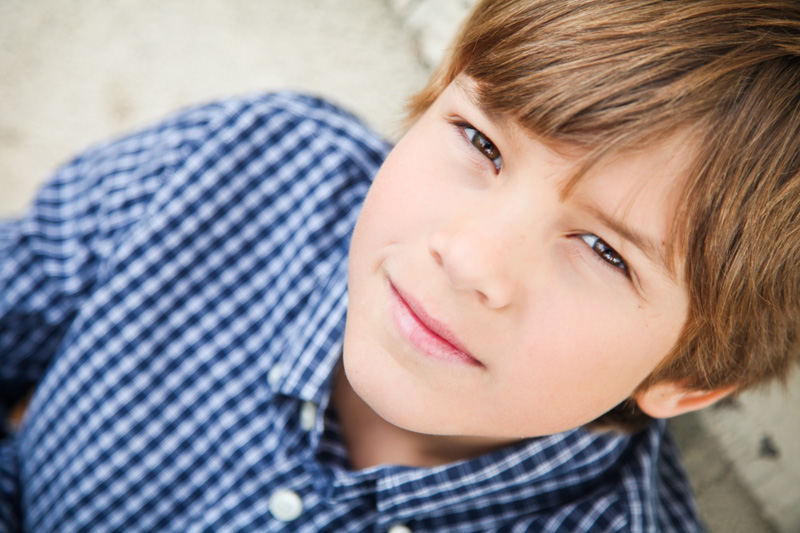 Senior Photography, Teen & Tween Photography, close up of boy in blue checkered shirt