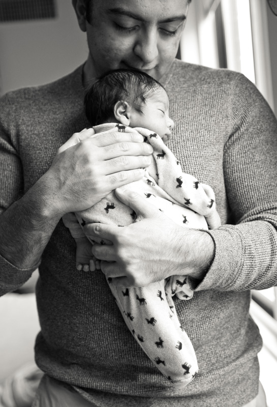 Newborn Photography & Baby Photography, father holding new baby