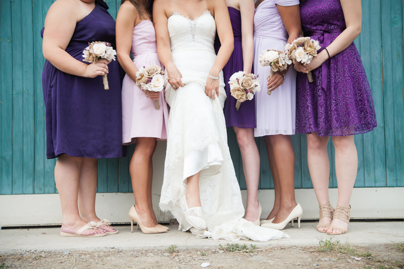Wedding Photography and Couples Photography, bridal party in purple