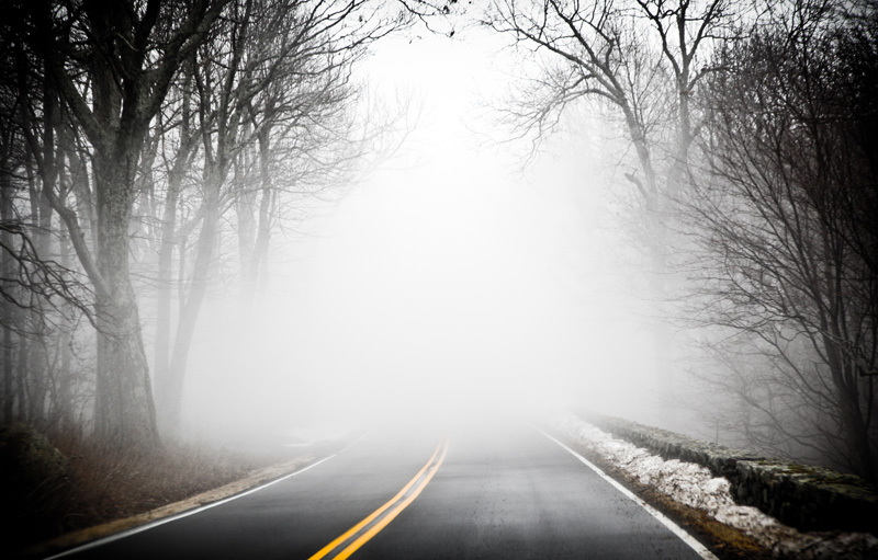 Nature Photography and Details Photography, road covered in thick fog