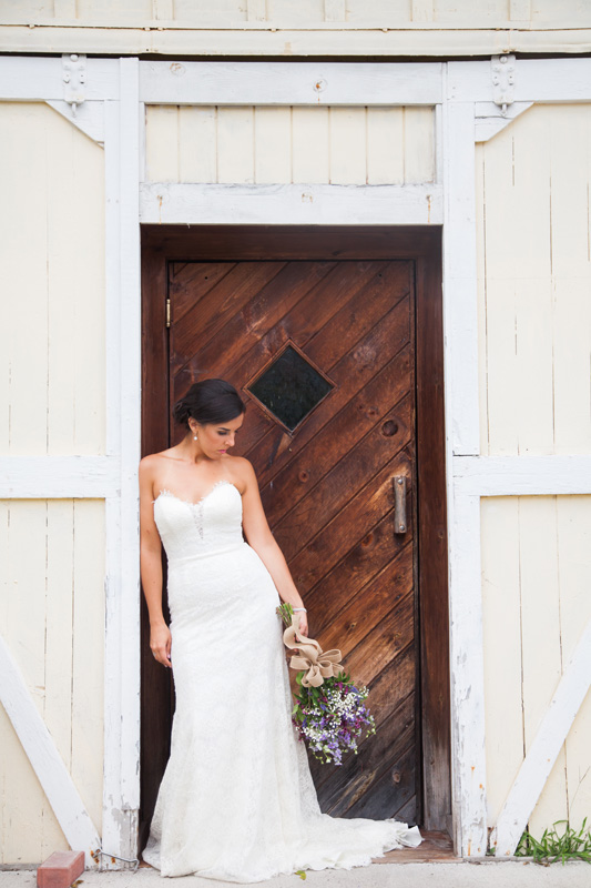 Wedding Photography and Couples Photography, bride leaning in doorway