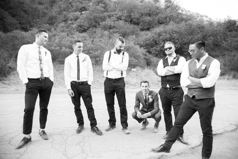 Wedding Photography and Couples Photography, groomsmen standing around groom
