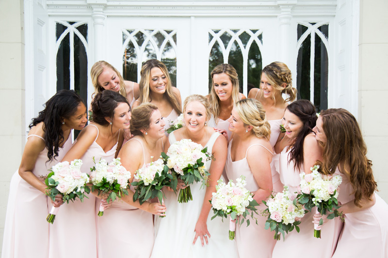 Wedding Photography and Couples Photography, bridal party in pink