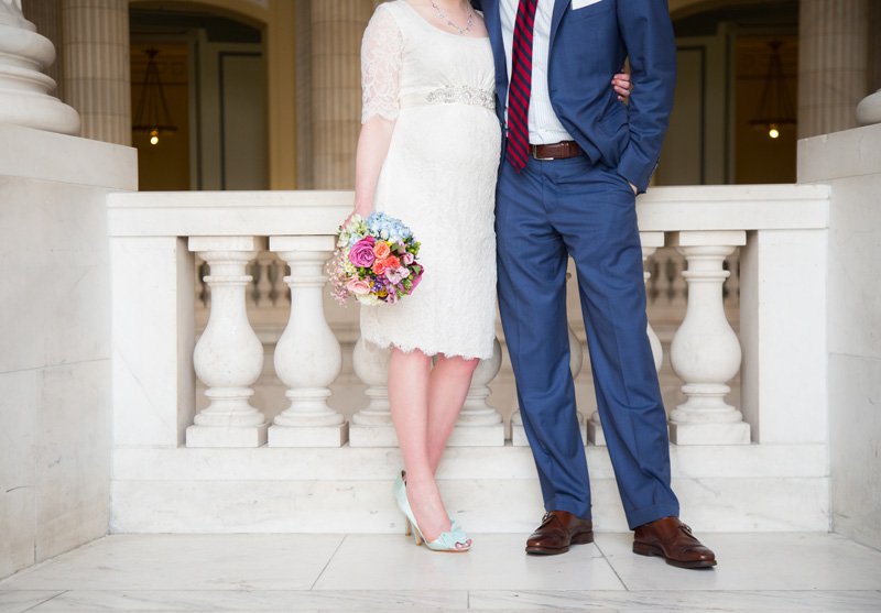 Wedding Photography and Couples Photography, bride and groom at the courthouse