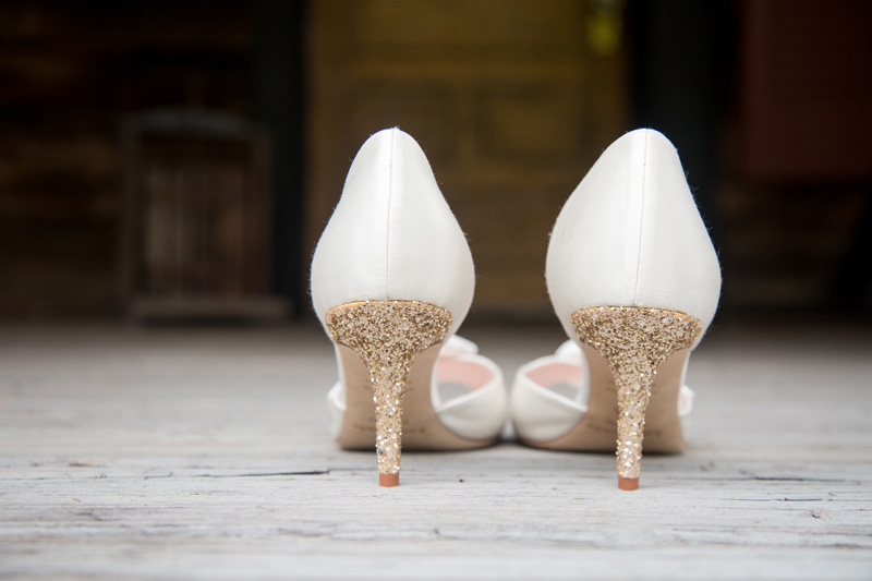 Wedding Photography and Couples Photography, detail shot of bride's heels